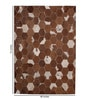 Tan & Brown Leather 72 x 48 Inch Hand Made Carpet by HDP