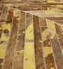 Tan & Yellow Leather 72 x 48 Inch Hand Made Carpet by HDP