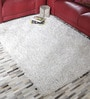 White Polyester 47 x 67 Inch Carpet by HDP