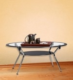 Helix Rectangular Coffee Table in Silver Colour