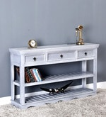Hendrix Console Table in Grey Wash Finish