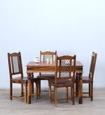 Henfrey Four Seater Dining Set in Provincial Teak Finish