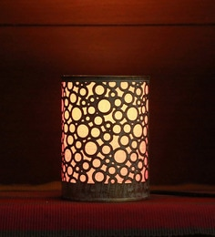 Height Of Designs Pink Metal Circles Pattern Night Lamp