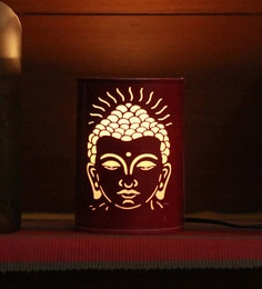 Height Of Designs Pink Metal Lord Budha Night Lamp