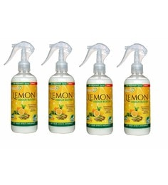 Herbo Pest Lemon Odour Buster Air Freshener 300Ml Spray Bottle - Set Of 4