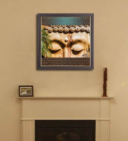 Buy PVC 12 x 12 Inch Buddha Eyes Framed Wall Painting by Height of ...