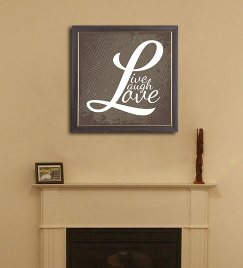 Buy PVC 12 x 12 Inch Live Laugh Love Framed Wall Painting by Height ...