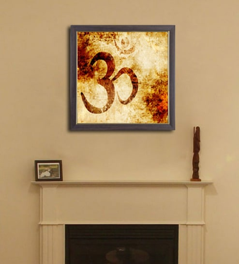 Buy PVC 12 x 12 Inch Om Framed Wall Painting by Height of Designs ...