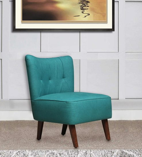 Helena accent chair in sea green colour by peachtree