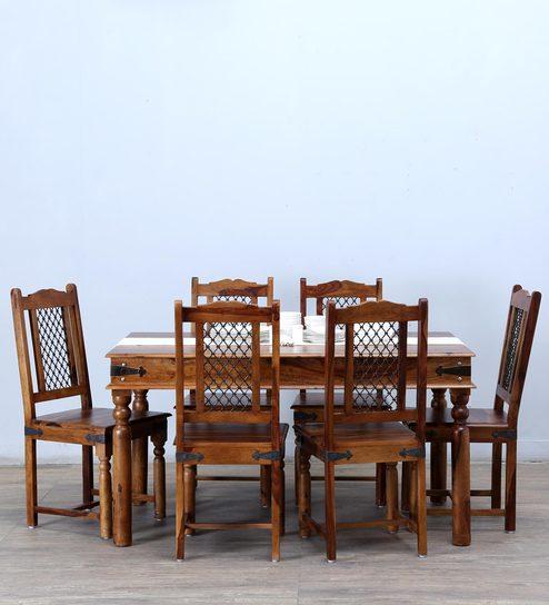 Henfrey Six Seater Dining Set In Provincial Teak Finish - 1591727