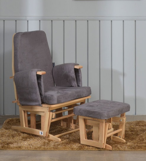 Marvelous Henson Glider Chair With Stool In Grey Colour By Nilkamal Squirreltailoven Fun Painted Chair Ideas Images Squirreltailovenorg