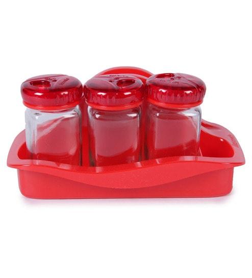 Herevin 3 pc Red Salt & Pepper Shaker - 105 ml