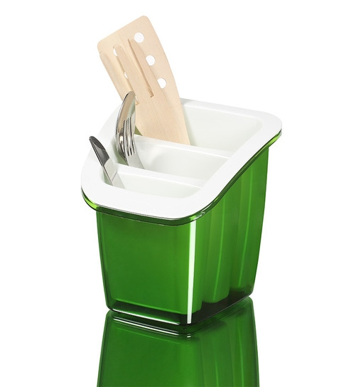 Herevin venezia plastic cutlery holder by herevin online for Cutlery storage with lid