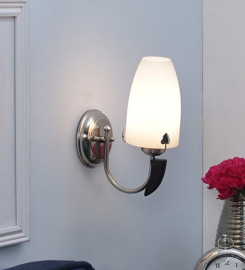 Contemporary Single Shade Uplighter Wall Mounted Light by Aesthetic Home Solutions
