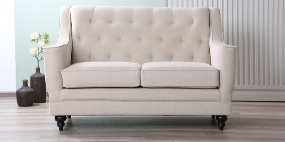 Hester 2 Seater Sofa in Beige Colour by Amberville