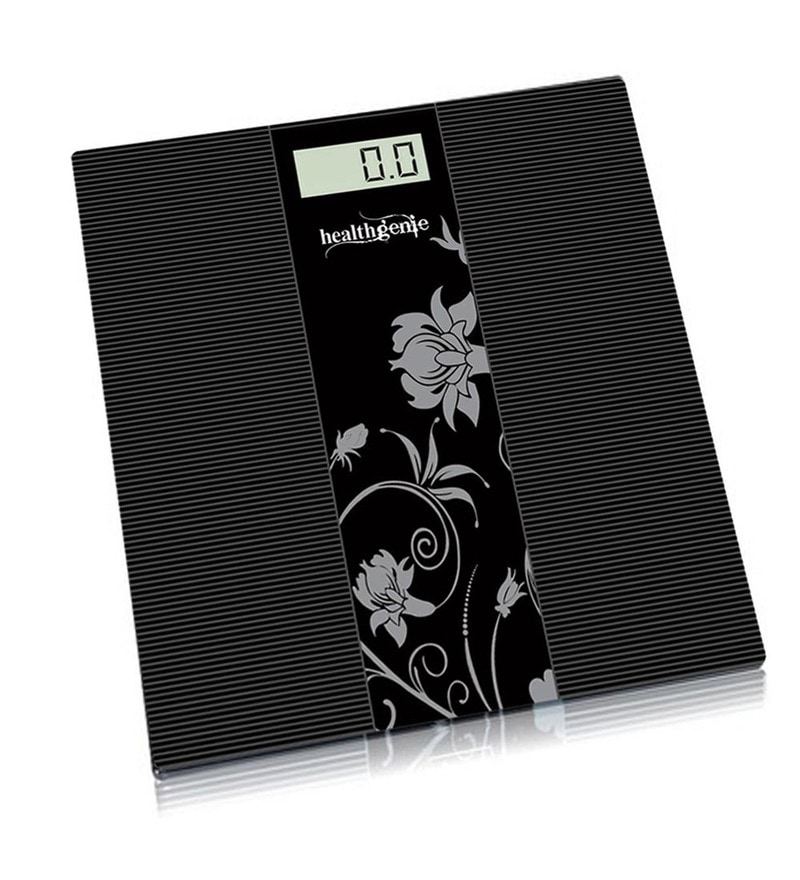 Healthgenie Black Glass Weighing Scales 1 Pc