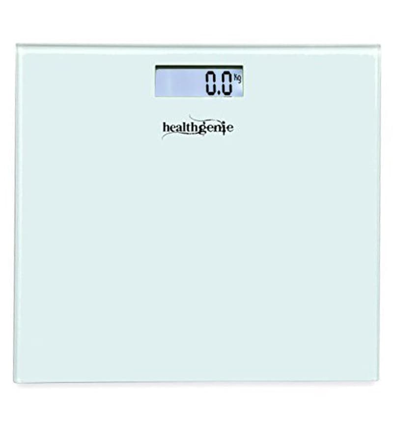 Healthgenie Hd-221 Glass White Digital Weighing Scale
