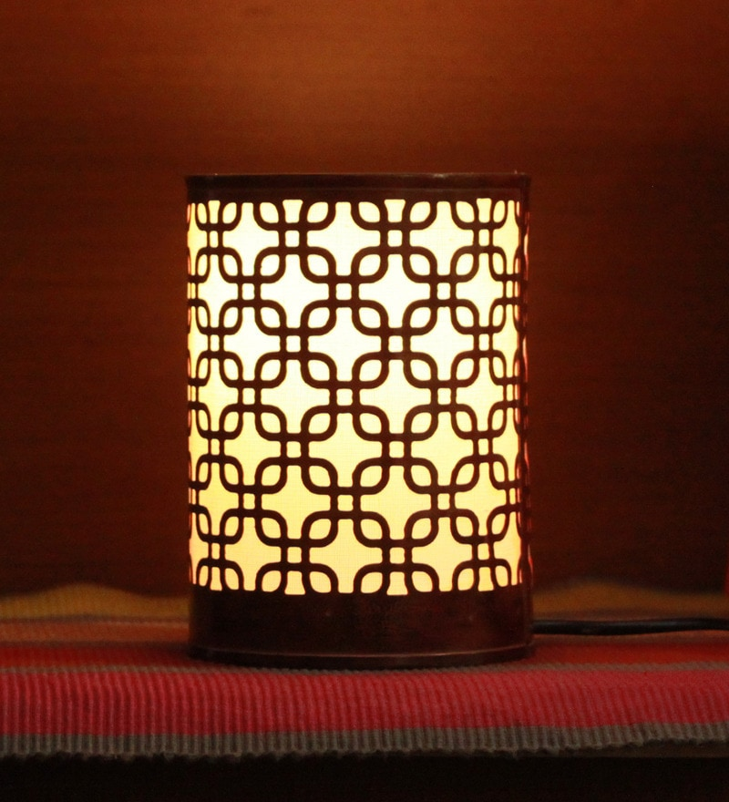 Brown Iron Square In Square Night Light by Height of Designs