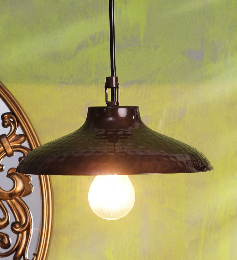 Brown Iron 40 W LED Pendant by Height of Designs