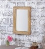 Heera Hastkala Beige Mango Wood Plain Framed Mirror