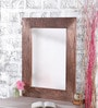 Brown Mango Wood Artistic Framed Mirror by Heera Hastkala