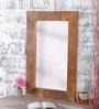 Heera Hastkala Brown Mango Wood Framed Mirror