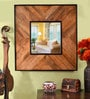 Brown Metal & MDF Painted Decorative Mirror by Heera Hastkala