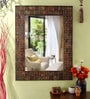 Heera Hastkala Multicolour Metal & MDF Artistic Design Decorative Mirror