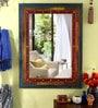 Multicolour Metal & MDF Framed Decorative Mirror by Heera Hastkala