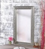 Silver Mango Wood Metal Fitted Artistic Framed Mirror by Heera Hastkala
