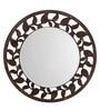 Aasra Brown Engineered Wood Leaf Border Mirror