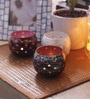 Height of Designs Multicolour Iron Dot Tea Light Votive - Set of 3