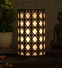 Gold and Black Iron Abstract Table Lamp by Height of Designs