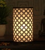 Gold and Black Iron Octagon Table Lamp by Height of Designs