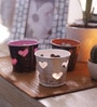 Height of Designs Multicolour Iron Heart Tea Light Votive - Set of 3