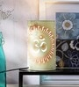 White Acrylic Table Lamp by Height of Designs