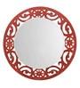 Height of Designs Orange Engineered Wood Eclectic Mirror