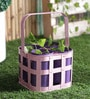 Height of Designs Pink and Purple Iron 5-piece Basket with Cup Planter Set