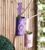 Pink and Purple Iron Hanging Planter Set by Height of Designs