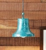 Turquoise Blue Iron 40 W LED Pendant by Height of Designs