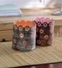 Height of Designs Multicolour Iron Flower Tea Light Votive - Set of 2