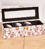 Mdf Wood & Leatherette Peach Watch Box by Height of Designs