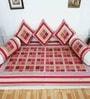 Heritagefabs Blue Cotton Anokhi 8-piece Diwan Set