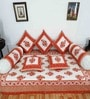 Heritagefabs Brown & White Cotton 8-piece Diwan Set