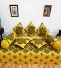 Heritagefabs Yellow Cotton Desire 8-piece Diwan Set