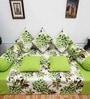 Heritagefabs Orange Cotton Royal Touch 8-piece Diwan Set