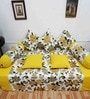 Heritagefabs Yellow Cotton Royal Touch 8-piece Diwan Set