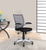 Monte High Back Ergonomic Chair in Grey Back Rest
