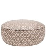 Hippo Round Rug filled Canvas Pouffe in Brown Colour