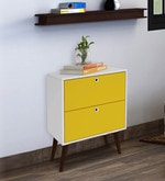 Hisa  Chest of Drawers  in White & Yellow Finish